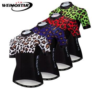 Weimostar-Camiseta de manga corta de Ciclismo para Mujer, ropa para bicicleta de...