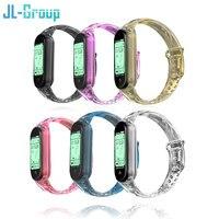 Verfärbt Strap Für Xiaomi Mi band 3 4 5 6 Strap Armband Für Silikon Handgelenk Miband 4/3 Armband Ersatz Smart zubehör