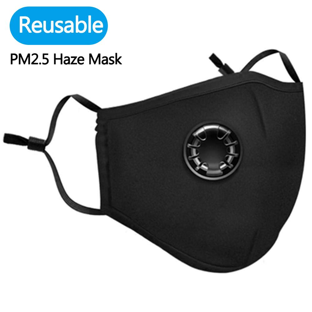 5pcs PM2.5 Haze Mask Breath Valve Anti-dust Mouth Masks Respiratory Protection Mask Washed Reusable Mouth Covers Dropshipping