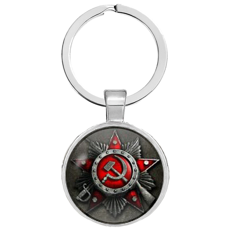 CCCP Russia Emblem Communism Keychains USSR Soviet Badges Sickle Hammer Keyrings Gifts Jewelry Llaveros