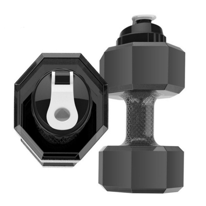 Unisex Gym Sports Dumbbell Water Bottles 2.2 L Big Large Capacity Plastic Water Bottle Fitness Dumbbell For Hiking Camping