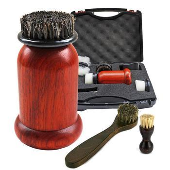 1 ensemble de cireuses à chaussures électriques Machine 75W haute puissance séquoia Portable brosse en cuir Kit de chaussures brosse outils de nettoyage soin du cuir shoe brush shoe brush machine shoe kit -