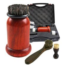 Hot Sell 1Set Electric Shoe Brush Machine 75W High Power Redwood Leather Shoes Kit Shoe Cleaning Brush Cleaning Tools цена и фото