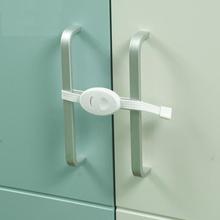 Nowy 2 sztuk dziecko Anti-pinch zamknięcie drzwi szafy bezpieczeństwa dziecko dzieci maluchy niemowlę ochronny zabezpieczający drzwi szafy drzwi tanie tanio Z tworzywa sztucznego Gabinet blokada 7-9 M 19-24 M 13-18 M 10-12 M Cabinet Locks