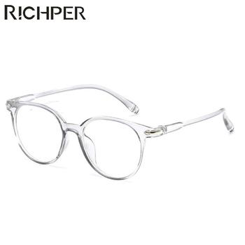 Niska cena modne okulary kobiety mężczyźni Vintage okrągłe jasne okulary okulary optyczne rama przezroczysta soczewka ramka do okularów Unisex tanie i dobre opinie RICHPER WOMEN Z tworzywa sztucznego Stałe S8R0203006 FRAMES Okulary akcesoria Eyewear Accessories Shopping Party Travel T Show Driving