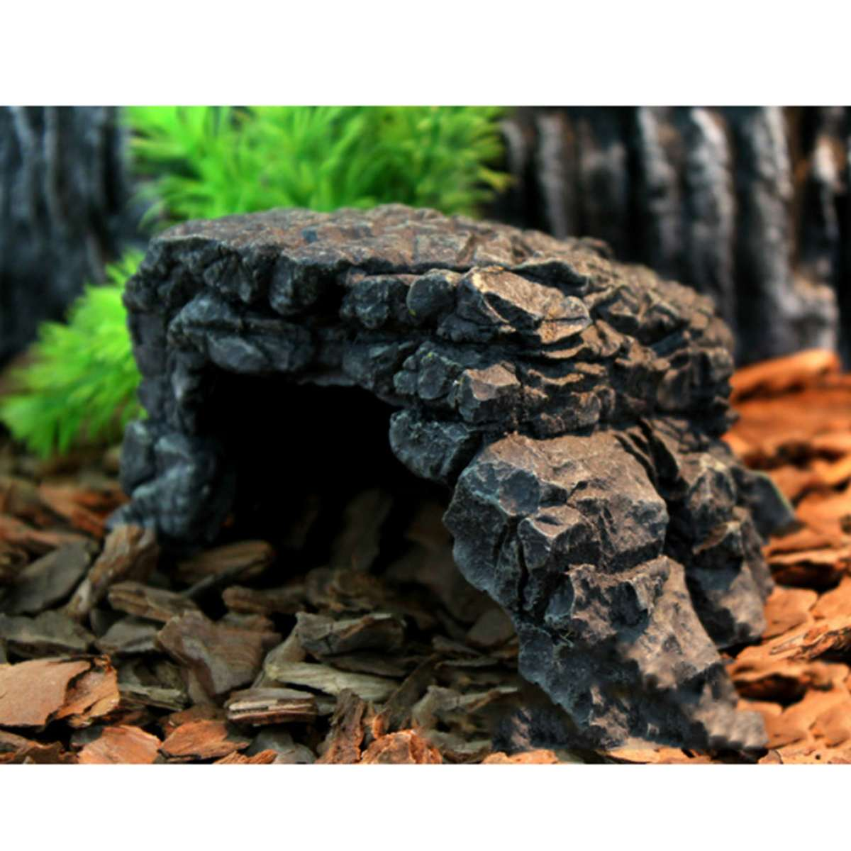 US $4.85 40% OFF|Turtle Reptile Hiding Cave Resin Fish Turtle Tank Basking Decoration Tortoise Terrace Lizard Scorpion Hideout House Ornaments-in Terrariums from Home & Garden on AliExpress - 11.11_Double 11_Singles