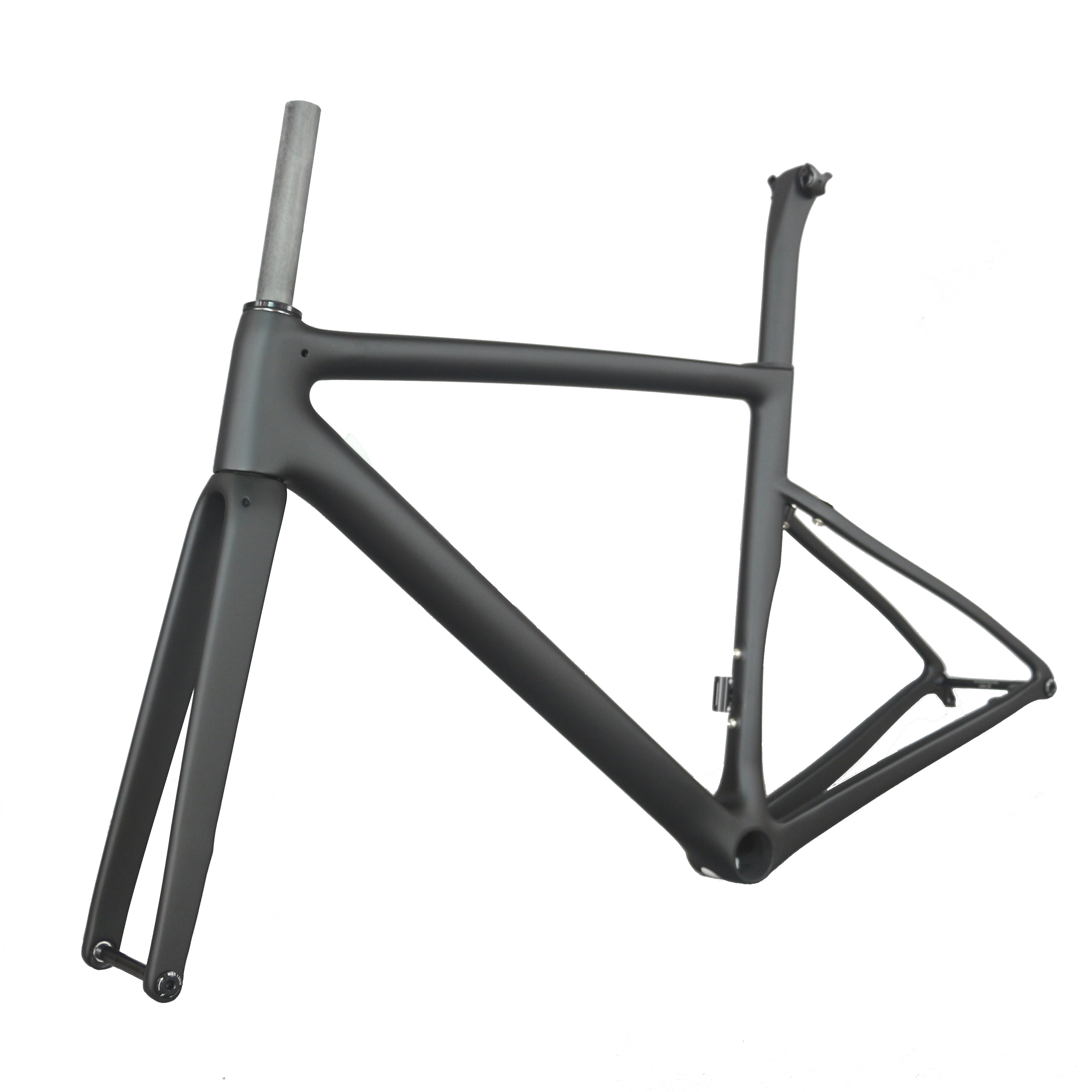 2020 Newest Seraph 700C Road Bicycle Frame PF30 With Axle Shaft 100*142mm Black Matte Finish Disc Brake Carbon Bike Frame TT-X19