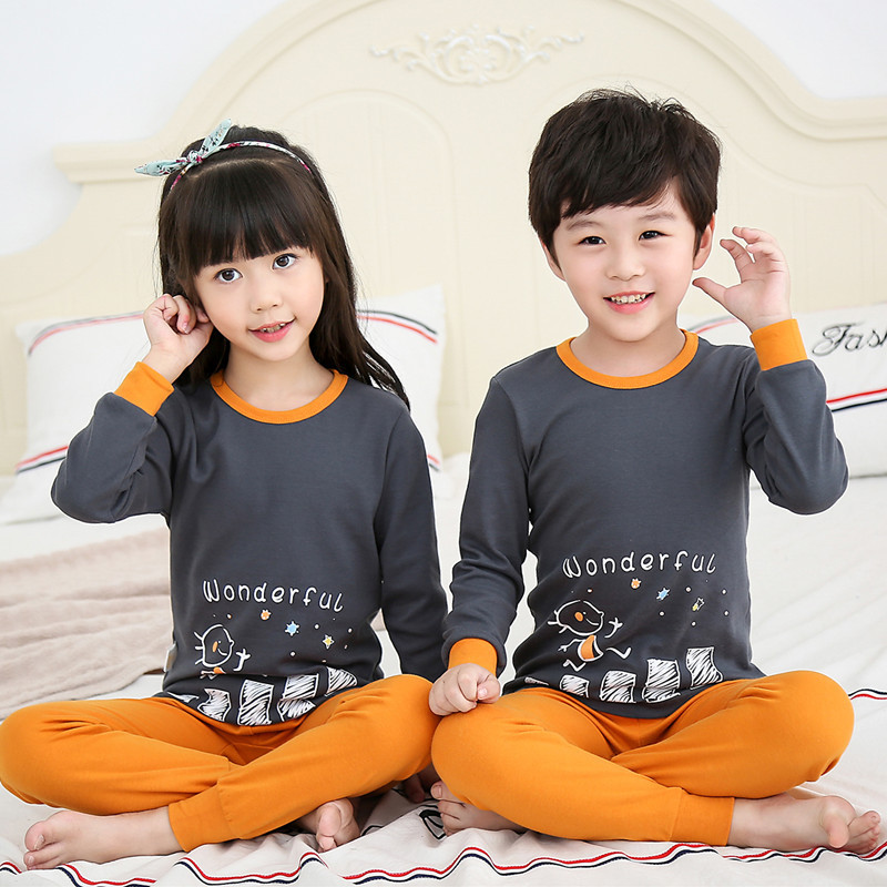 Kids Pajamas Long Sleeve Cartoon Children Pajamas For Girls Boys Pyjamas Kids Baby Girl Clothes Suits Boy Sleepwear Nightwear