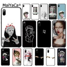 Mona Lisa Art David Soft Silicone Cover Luxury Case For Xiaomi Mi A1 A2 Lite Redmi Note 2 3 4 4x 5 5a 6 Telephone Accessories mona lisa phone case art paint pattern cover luxury case for xiaomi mi a1 a2 lite redmi note 2 3 4 4x 5 5a 6 accessories