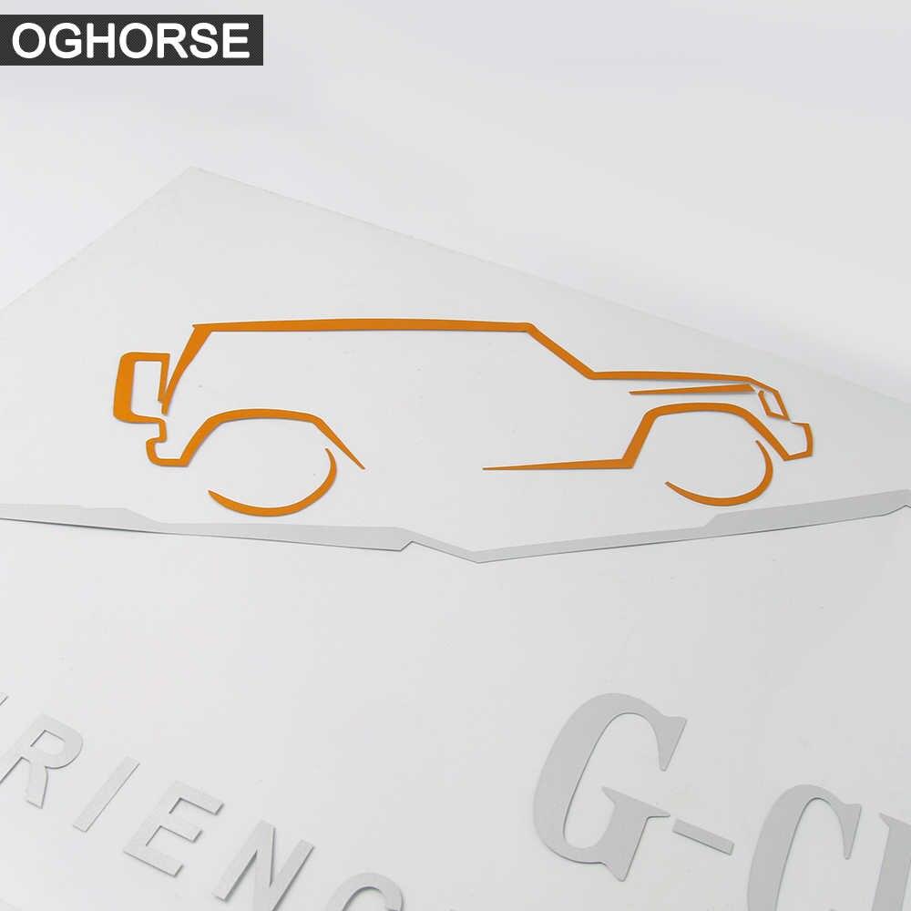 Autocollants réfléchissants pour vitres de voiture | Étiquette de carrosserie pour Mercedes Benz G class G63 G65 G500 G400 W463 AMG, accessoires 1 pièce