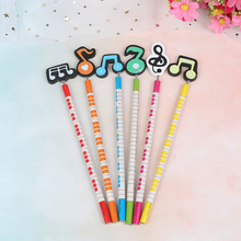 Wooden Pencil Musical Stationery School-Supplies Writing-Note Color Student for Randomly