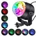 Звуковая активация вращающийся шар Диско вечерние DJ огни 3 Вт 3 светодиодный RGB светодиодный сценический свет для Рождественские Свадебные ...