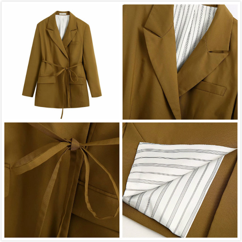 2020 Spring Autumn Vintage With Belt Two Piece Set Women Office Blazer Jacket Coat+Zipper Pants Suit Loose Trousers Suits Female