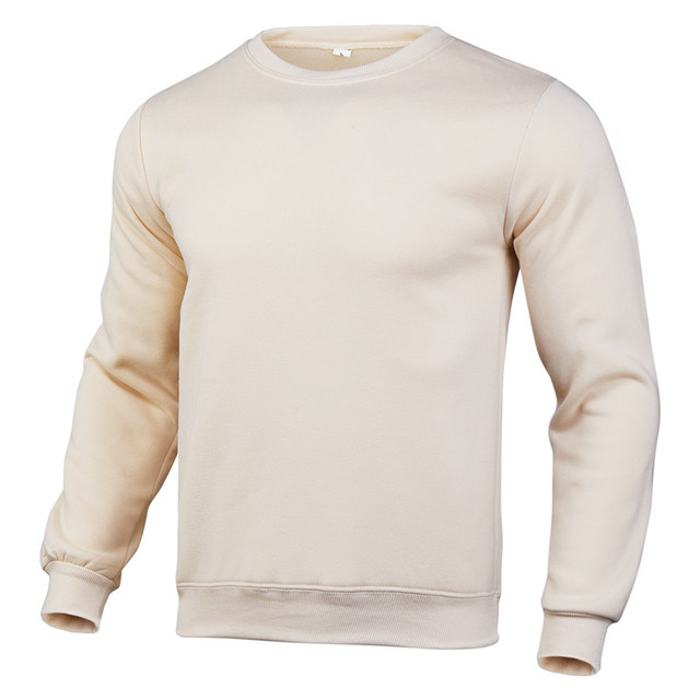 2020 new winter round neck cotton solid color fashion casual pullover jogging fitness sweatshirt track and field sweater S〜3XL 1