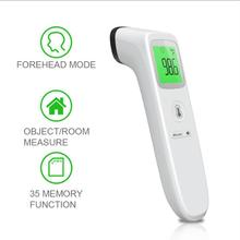 Non Contact Thermometer Gun Digital IR Infrared Forehead Thermometer Ear Body Fever Thermometer Baby Kids Adults