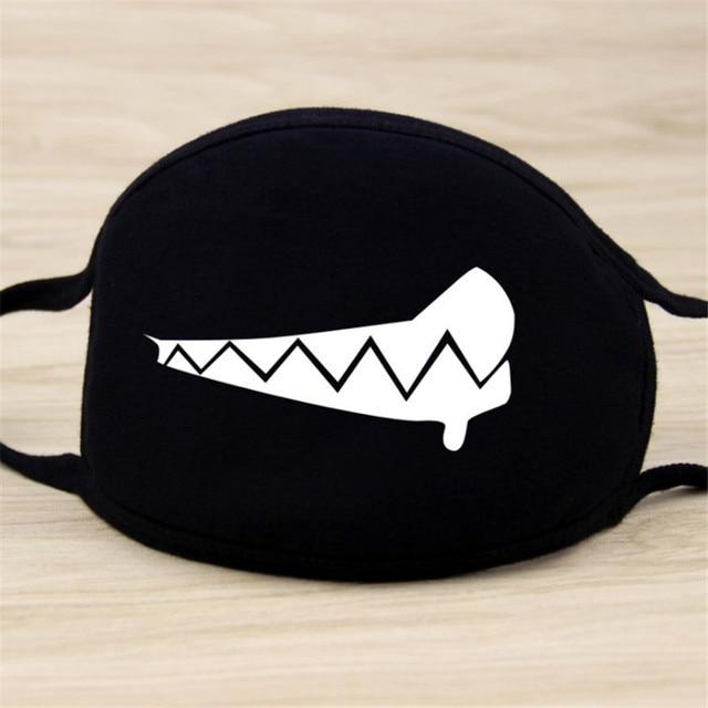 1pcs Mouth Face Mask Kawaii Black Cotton mascarilla High Quality Cartoon Halloween cosplay Mask Party Supplies-S 1