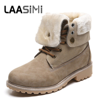 LAASIMI Autumn Boots Winter Shoes Women Flat Heel Boots Fashion Keep Warm Women's Ankle Boots Woman Camouflage Botas Mujer new autumn winter boots brown ankle boots flat heels shoes woman fringe boots genuine leather fashion botas mujer