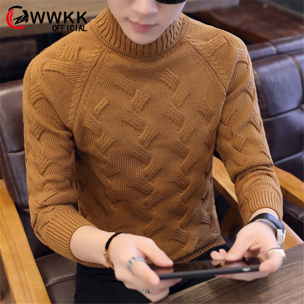 Men's Sweaters Cardigan Coats Winter Warm Knitted Casual Long-Sleeved Slim Fit Cotton Knitwear Collar Autumn Sweater Solid Color