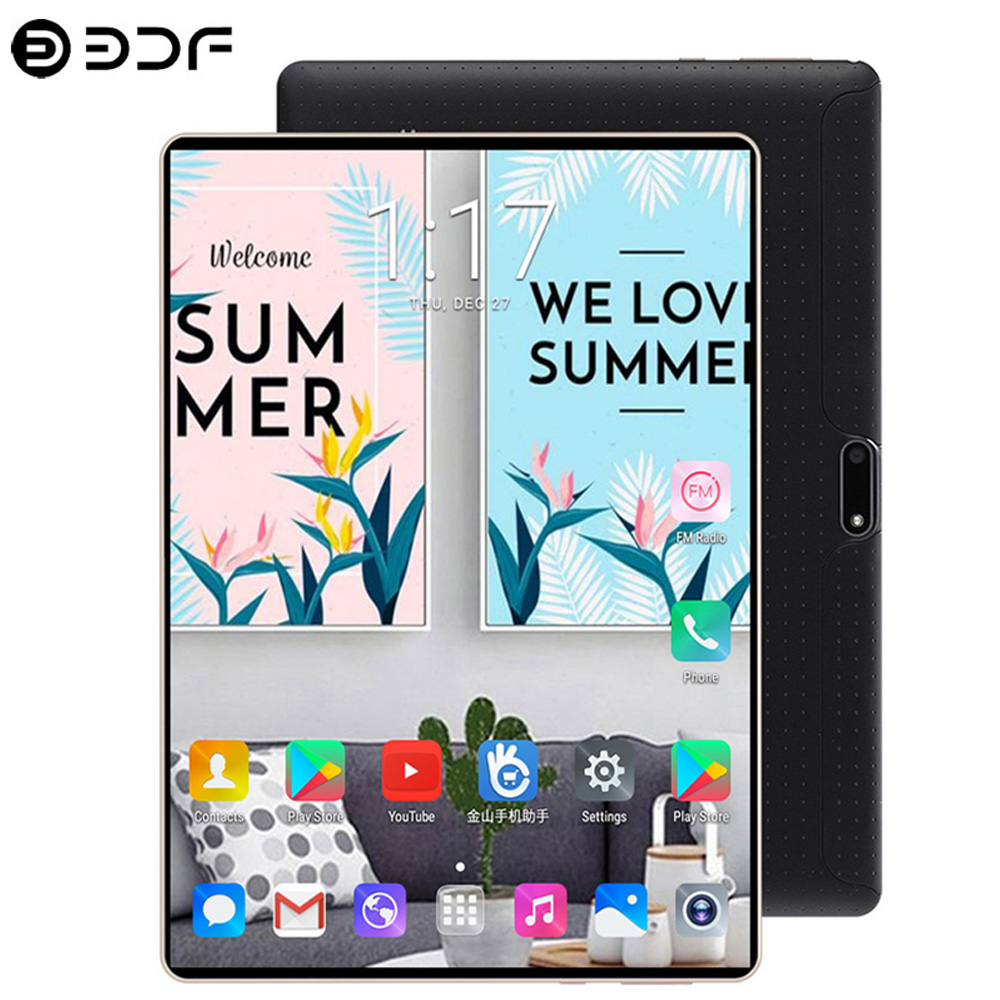 2.5D Steel Screen 10.1 Inch Tablet PC Android 7.0 3G Call LTE Octa Core 4GB RAM 64GB ROM Bluetooth Wifi IPS Tablets Pc