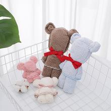 Prezent ślubny ręcznik z ręcznikiem kształt niedźwiedzia ręcznik koralowy polar chłonny ręcznik ręcznik świąteczny ręcznik tanie tanio Prostokąt Skośnym Stałe Gładkie barwione 5 s-10 s Można prać w pralce Bawełna czesana