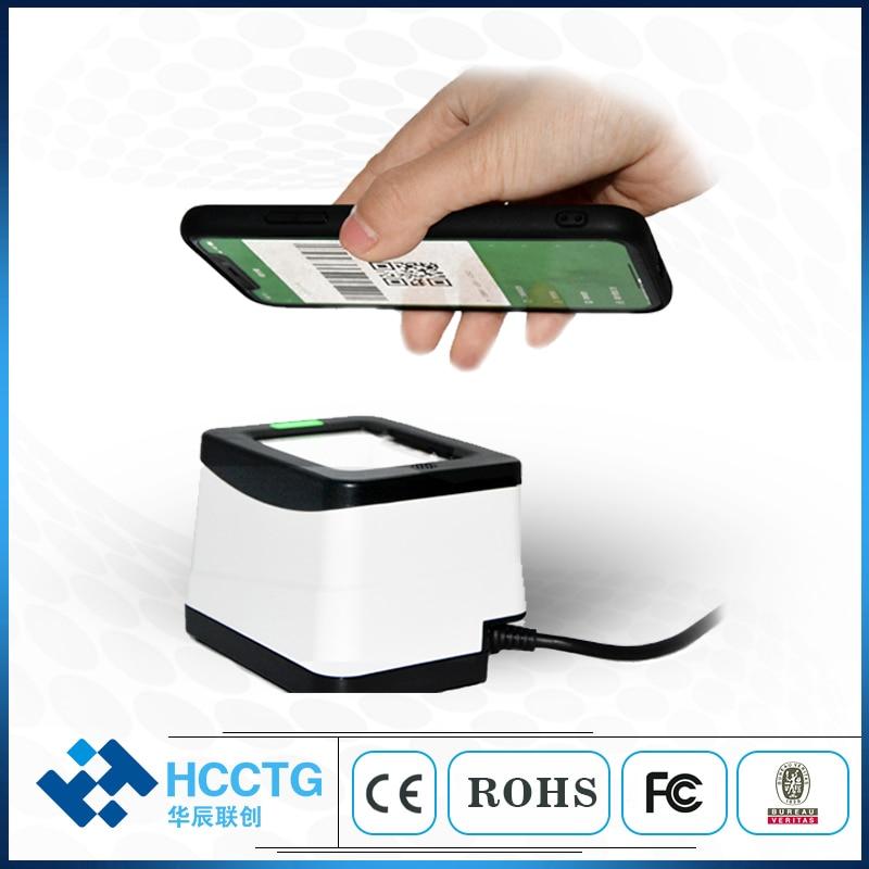 Alipay Mini plate-forme d'image USB QR boîte de Code Scanner de paiement Mobile boîte de paiement de bureau CMOS 1D 2D Code à barres POS HS-2001B