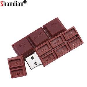 Image 5 - SHANDIAN 16G 4GB 8GB 32GB 64GB di Capienza reale Sveglio Patatine Fritte di Figura USB 2.0 Flash drive pendrive Chiave Dellautomobile Scheda di Memoria stick Penna