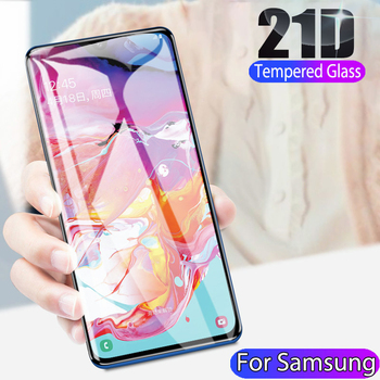100Pcs 21D Full Screen Protector For Samsung Galaxy A90 A80 A70 A70E A60 A60S A50 A50S A40 A30 A30S A20 A10 Tempered Glass Film