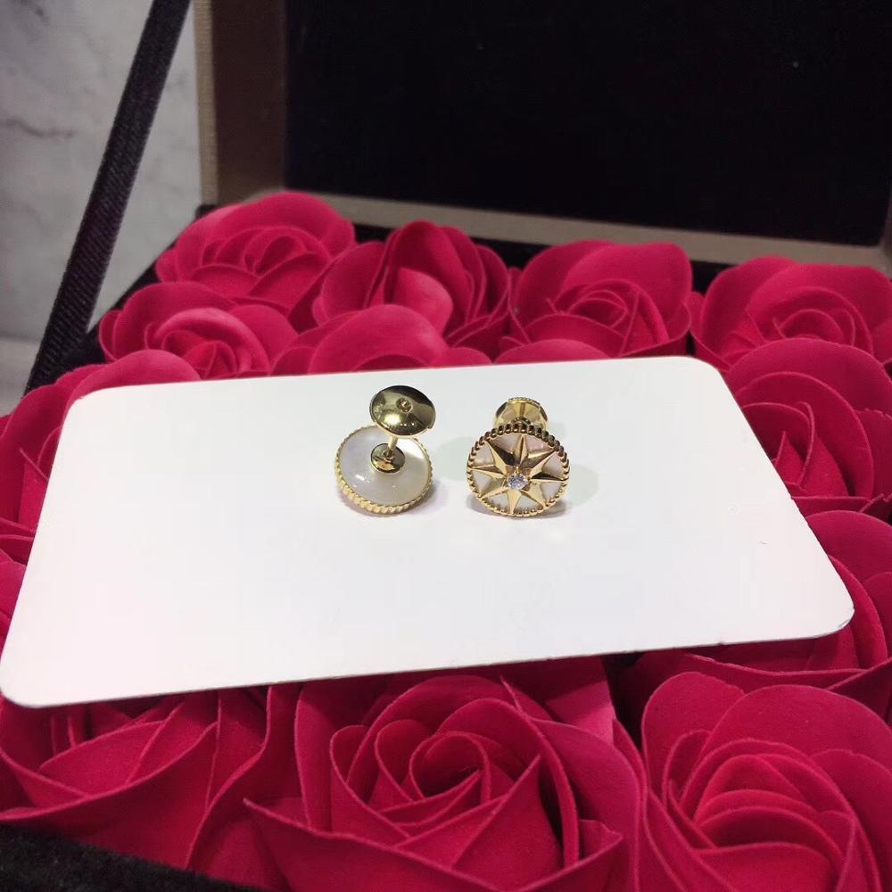 Luxueux romantique boussole boucles d'oreilles étincelant huit étoiles boucle d'oreille pour femmes dames pur 925-Sterling-argent célèbre bijoux - 6