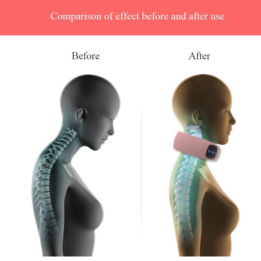 Masseur électrique de cou d'impulsion Instrument de thérapie de vertèbre cervicale Acupuncture thérapie magnétique oreiller de cou masseur soins de santé - 6