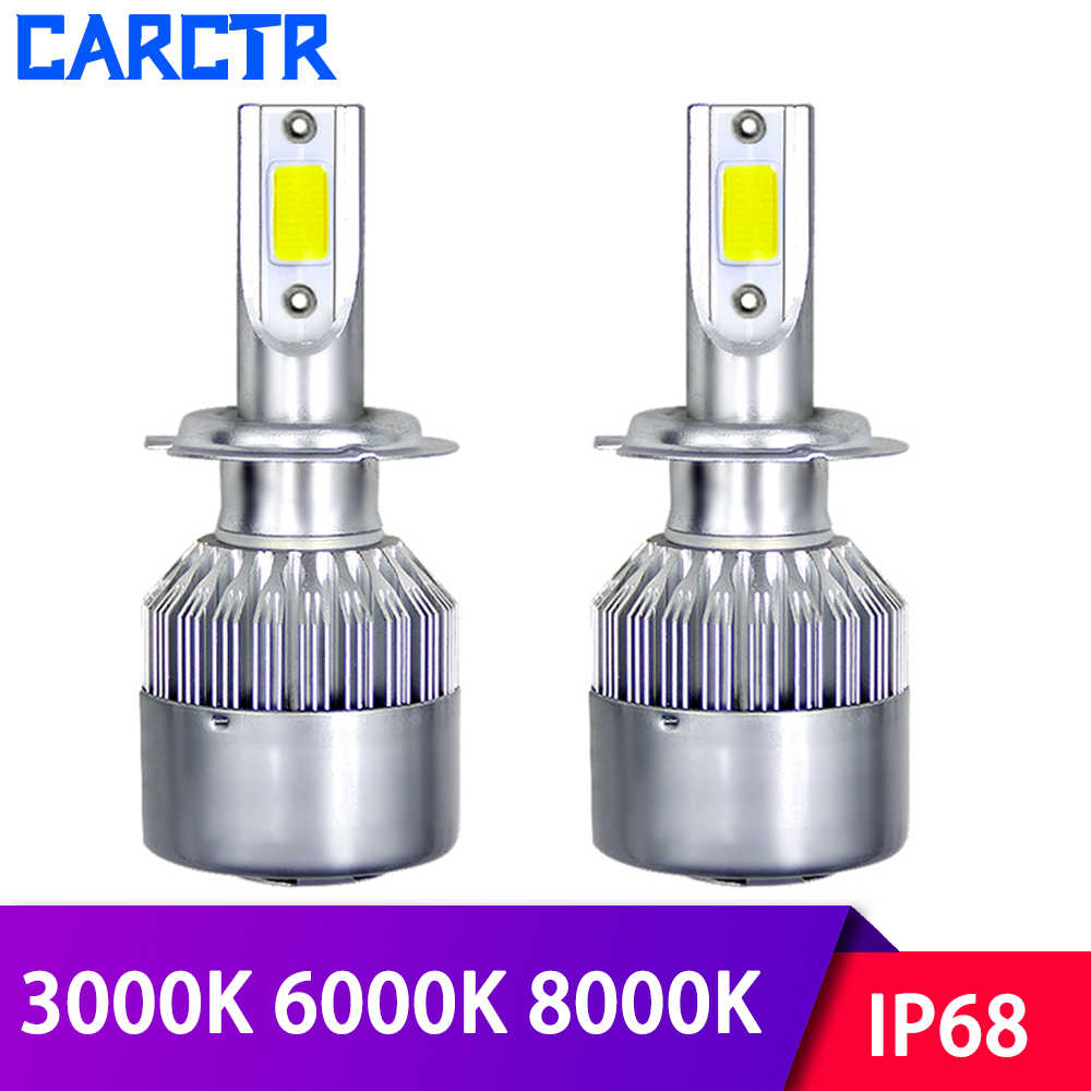 LED Car Headlight Bulbs H1/3/4/7 LED Lamp 880 881 H/9/11 9003/4/5/6/7 3000K 6000K 8000K IP68 36W Auto Headlamp Car Lights 2PCS