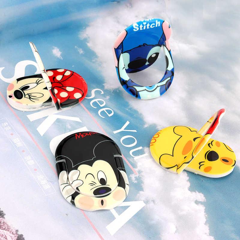קריקטורה חמודה מיקי בעלי החיים נייד טלפון טבעת מחזיק עבור IPhone סמסונג Huawei אצבע גריפ Stand כיס שקע תמיכת טלפון