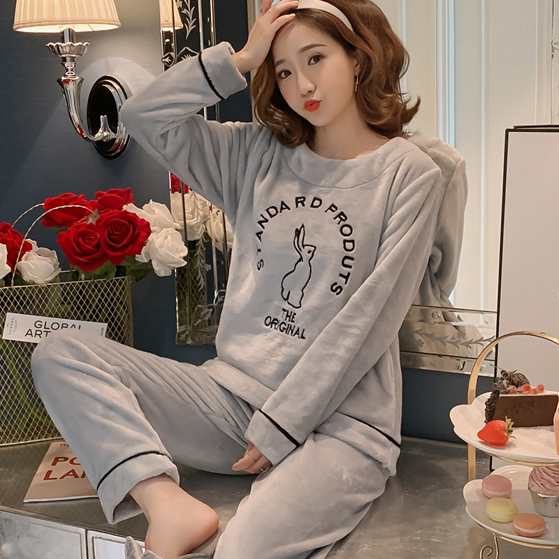 Betyline 2019 New Winter Pajamas For Women Sleepwear Warm Flannel Long Sleeves Pajamas Cute Animal Homewear Thick Homewear 167