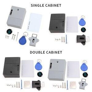 Cabinet Locks Invisible Electronic RFID Lock Hidden Keyless Drawer Door Locks Sensor Locker Cabinet Locks DIY Lock