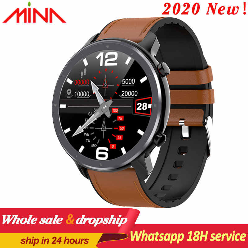 L11 Smart Horloge Mannen Vrouwen Volledige Ronde Touch Screen Ecg Hartslag Weer Display IP68 Smartwatch Android Ios Vs L8 DT78