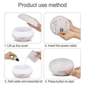 Image 5 - Kbaybo 550 Ml Essentiële Olie Diffuser Luchtbevochtiger Wit Hout Afstandsbediening Aromatherapie Mist Maker Led Nachtlampje Voor Thuis