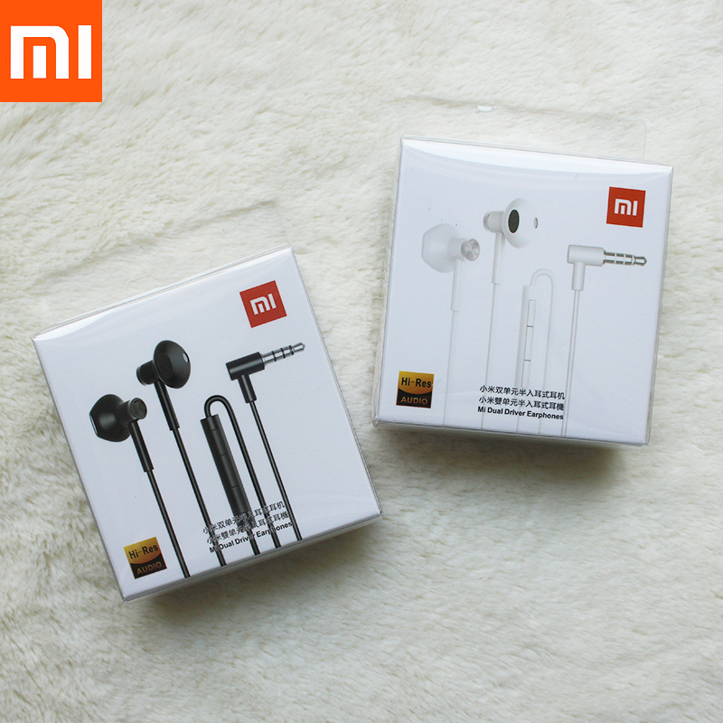 Xiaomi 3.5MM In Ear Earphone Dual Units Half andsFree/Mic Stereo Earbuds For Mi A3 CC9 Note 10 Pro Redmi Note 8 9 Pro 8T 9S 5A