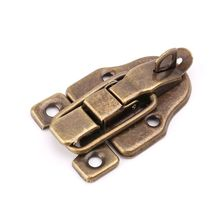 Vintage Toolbox Lock Antique Metal Buckle Suitcase Case Toggle Hasp Latch Furniture Hardware G8TB