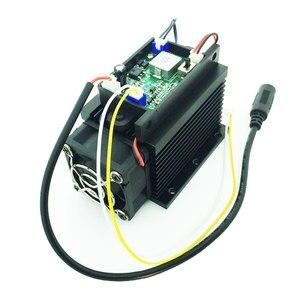 Image 2 - Z możliwością ustawiania ostrości wysokiej mocy 15W laserowa maszyna grawerująca diy głowica do cięcia laser do cięcia i grawerowania metalu drewna 12V 450nm 15000mw TTL analogowy