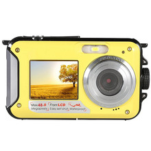 48MP Underwater Waterproof Digital Camera Dual Screen Video