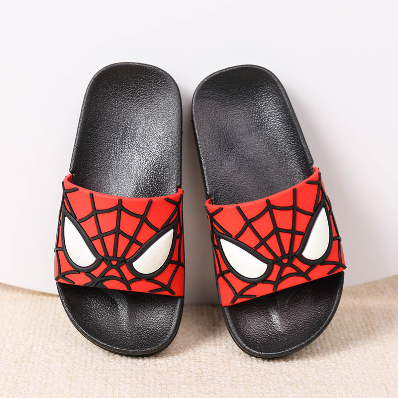 Children Boys Girls Anti-Slip Sandals For Kids Spiderman Outdoor  Pool Sandal Soft Anti-Slip Bath Slippers House Casual Shoe
