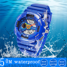 PANARS Children Kids Sports Watches 50M Waterproof Quartz Mu