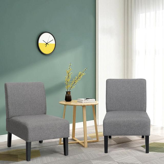 Set of 2 Armless Accent Chair  3