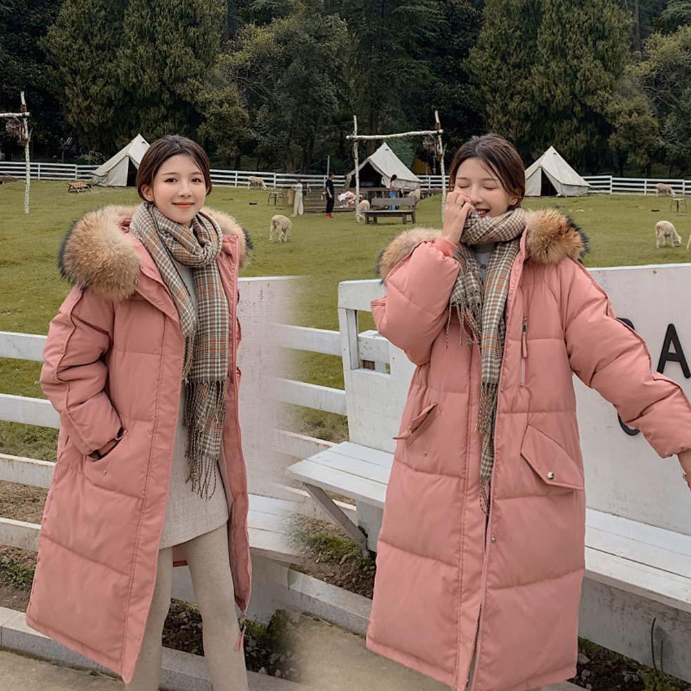 Vielleicht 2020 Long Winter Coat Women Hooded Down Parka Ladies New Warm Winter Jacket Women Loose