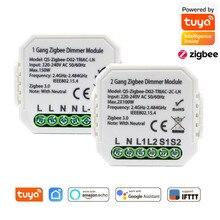 Switch-Module Tuya Smart Zigbee Dimmer Works Neutral Wireless-Control Google With Alexa