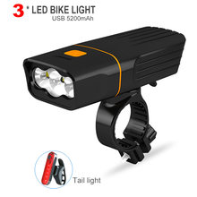 L2 / T6 Bicycle Light USB Rechargeable 5200mAh Mobile Power Bank Bike Light Waterproof MTB Cycling LED Headlight Bike Accessorie(China)
