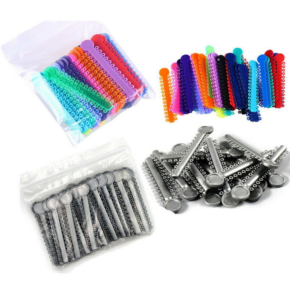 New 5Pcs Dental Orthodontics Elastomeric Ligature Tie Ring Elastic Bands Braces