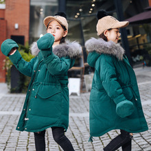 Teenager Girls 80% Down Jacket Thickening White Duck Warm Hooded Parkas for New Year Children Winter Clothes Fashion