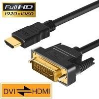 Hdmi para dvi cabo dvi para hdmi macho 24 + 1 DVI D adaptador macho banhado a ouro 1080 p para hdtv dvd projetor playstation 4 ps4/3 caixa de tv Cabos HDMI     -