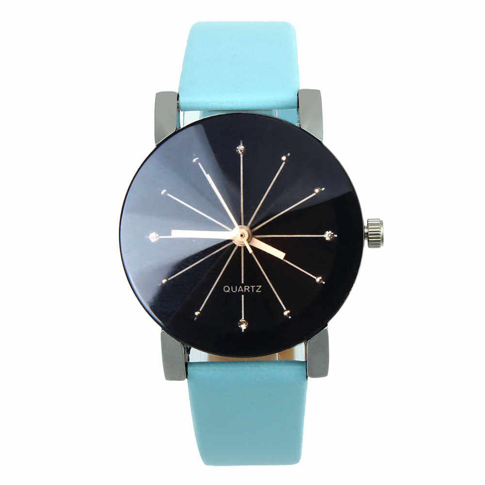 Reloj de cuarzo para mujer, reloj de pulsera de cuero, reloj de pulsera redondo Cas para mujer, regalos para mujer, vestido casual de lujo, reloj de lujo para mujer