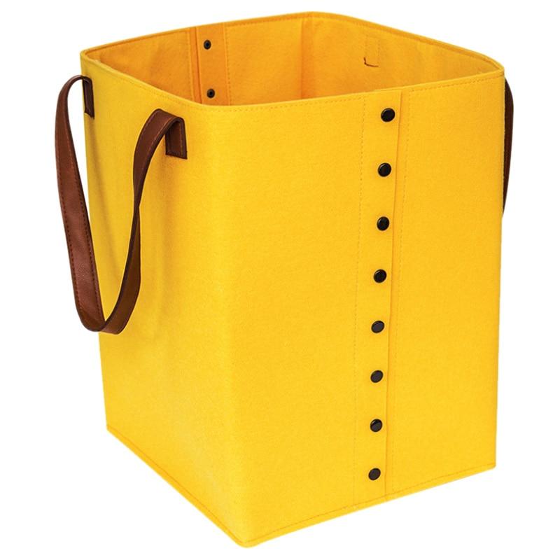 Multi-Functional Felt Storage Basket Laundry Basket Toy Storage Basket Foldable Sundries Container Organizer